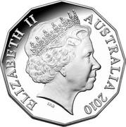 Australia 50 Cents Prince William and Catherine Middelton 2010 KM# 1571a ELIZABETH II AUSTRALIA 2010 IRB coin obverse