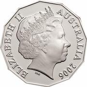 Australia 50 Cents Queen's 80th Birthday 2006 KM# 801a ELIZABETH II AUSTRALIA 2006 IRB coin obverse