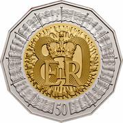 Australia 50 Cents Queen's 80th Birthday 2006 KM# 801a 80 EIIR 50 coin reverse