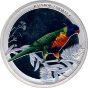 Australia 50 Cents Rainbow Lorikeet 2013 KM# 1925 RAINBOW LORIKEET P NM coin reverse