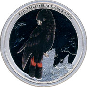 Australia 50 Cents Red-tailed Black-Cockatoo 2013 KM# 1815 RED-TAILED BLACK-COCKATOO P NM coin reverse
