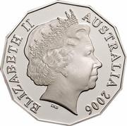 Australia 50 Cents Royal Visit (Gilded) 2006 KM# 802a ELIZABETH II AUSTRALIA 2006 IRB coin obverse
