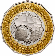 Australia 50 Cents Royal Visit (Gilded) 2006 KM# 802a 50 coin reverse