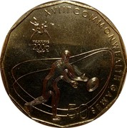Australia 50 Cents Rugby 7's 2006 KM# 775 XVIII COMMONWEALTH GAMES 50 MELBOURNE 2006 coin reverse