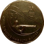 Australia 50 Cents Shooting 2006 KM# 772 XVIII COMMONWEALTH GAMES MELBOURNE 2006 50 coin reverse