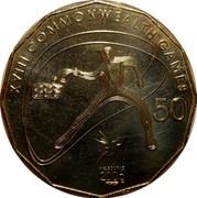 Australia 50 Cents Table Tennis 2006 KM# 780 XVIII COMMONWEALTH GAMES 50 MELBOURNE 2006 coin reverse
