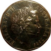 Australia 50 Cents Weightlifting 2006 KM# 773 ELIZABETH II AUSTRALIA 2006 IRB coin obverse