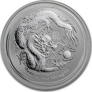 Australia 50 Cents Year of the Dragon 2012 KM# 1663 YEAR OF THE DRAGON P coin reverse