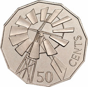 Australia 50 Cents (Year of the Outback) KM# 602 50 CENTS coin reverse