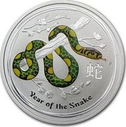 Australia 50 Cents Year of the Snake (Colorized) 2013 KM# 1832a YEAR OF THE SNAKE P coin reverse