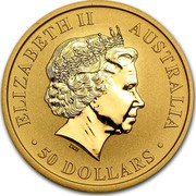 Australia 50 Dollars Australian Kangaroo 2012 KM# 2083 ELIZABETH II AUSTRALIA 50 DOLLARS IRB coin obverse