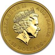 Australia 50 Dollars Australian Kangaroo 2013 KM# 1991 ELIZABETH II AUSTRALIA 50 DOLLARS IRB coin obverse