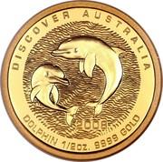 Australia 50 Dollars Discover Australia - Dolphin 2008 KM# 1196 DISCOVER AUSTRALIA DOLPHIN 1/2 OZ. 9999 GOLD 2008 P SB coin reverse