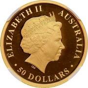 Australia 50 Dollars Discover Australia - Koala 2013 KM# 2055 ELIZABETH II AUSTRALIA 50 DOLLARS IRB coin obverse