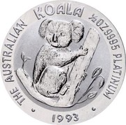 Australia 50 Dollars Koala 1993 KM# 194 coin obverse