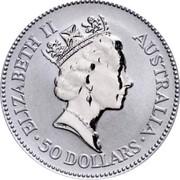 Australia 50 Dollars Koala 1993 KM# 194 coin reverse