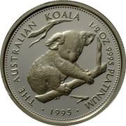 Australia 50 Dollars Koala 1995 Proof KM# 286 THE AUSTRALIAN KOALA 1/2 OZ 9995 PLATINUM coin reverse