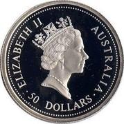 Australia 50 Dollars Koala 1999 KM# 459 ELIZABETH II AUSTRALIA 50 DOLLARS coin obverse
