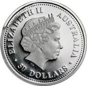 Australia 50 Dollars Koala 2000 KM# 472 ELIZABETH II AUSTRALIA 50 DOLLARS coin obverse