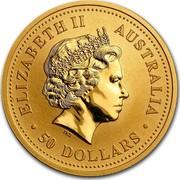 Australia 50 Dollars Lunar Dog 2006 KM# 1901 ELIZABETH II AUSTRALIA 50 DOLLARS IRB coin obverse