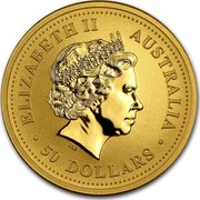 Australia 50 Dollars Lunar Pig 2007 KM# 1902 ELIZABETH II AUSTRALIA 50 DOLLARS IRB coin obverse