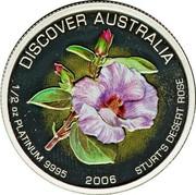 Australia 50 Dollars Sturt's desert rose 2006 P Proof KM# 983 coin obverse