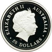 Australia 50 Dollars Sturt's desert rose 2006 P Proof KM# 983 coin reverse