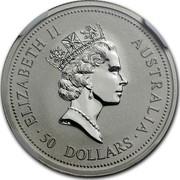 Australia 50 Dollars The Australian Koala 1994 KM# 252 ELIZABETH II AUSTRALIA 50 DOLLARS RDM coin obverse