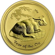 Australia 50 Dollars Year of the Ox 2009 KM# 1904 YEAR OF THE OX P coin reverse