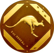 Australia 500 Dollars Kangaroo Road Sign 2013 Proof KM# 1957 5 OZ .9999 AU coin reverse
