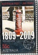 Australia 55 C Australia Post 2009 KM# 1254 AUSTRALIA POST - 200 YEARS 1809 - 2009 EARLY POSTING BOX 55 C AUSTRALIA PYRMONT MY29 1900 - N.S.W - coin reverse