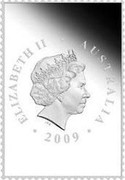 Australia 55C 200 Years of Postal Services 'Home Delivery' 2009 KM# 1255 ELIZABETH II AUSTRALIA 2009 IRB coin obverse