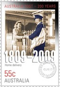Australia 55C 200 Years of Postal Services 'Home Delivery' 2009 KM# 1255 AUSTRALIA POST - 200 YEARS 1809 - 2009 HOME DELIVERY 55C AUSTRALIA coin reverse