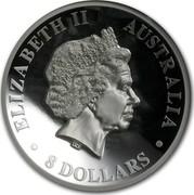 Australia 8 Dollars Australian Koala 2013 KM# 2044 ELIZABETH II AUSTRALIA 8 DOLLARS IRB coin obverse