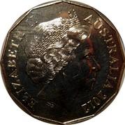 Australia Fifty Cents 70th Anniversary of the Kokoda Trail 2012 KM# 1855 ELIZABETH II AUSTRALIA 2012 IRB coin obverse