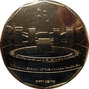 Australia Fifty Cents 70th Anniversary of the Kokoda Trail 2012 KM# 1855 70TH ANNIVERSARY OF THE KOKODA CAMPAIGN FIFTY CENTS coin reverse