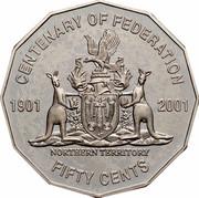 Australia Fifty Cents Centenary of Federation - Northern Territory 2001 KM# 559 CENTENARY OF FEDERATION 1901 2001 NORTHERN TERRITORY FIFTY CENTS coin reverse