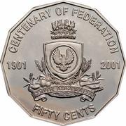 Australia Fifty Cents (Centenary of Federation - South Australia) KM# 561 CENTENARY OF FEDERATION 1901 2001 SOUTH AUSTRALIA FIFTY CENTS coin reverse