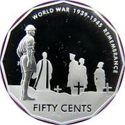 Australia Fifty Cents World War Remembrance 2005 B Proof KM# 746a WORLD WAR 1939-1945 REMEMBRANCE FIFTY CENTS coin reverse