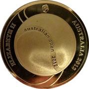 Australia Five Dollars 100th Mens Champion Australian Open 2012 KM# 1739 ELIZABETH II AUSTRALIA 2012 AUSTRALIAN OPEN 2012 IRB coin obverse