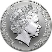 Australia One Dollar 100th Anniversary of Australian Coinage 2010 KM# 1495A ELIZABETH II AUSTRALIA 2010 IRB coin obverse