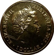 Australia One Dollar AFL Premiers 2012 KM# 2022 ELIZABETH II AUSTRALIA 2012 IRB coin obverse