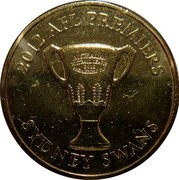 Australia One Dollar AFL Premiers 2012 KM# 2022 2012 AFL PREMIERS ONE DOLLAR AUSTRALIAN FOOTBALL LEAGUE 2012 PREMIERSHIP CUP coin reverse