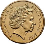 Australia One Dollar Army Anniversary 2001 KM# 530 ELIZABETH II AUSTRALIA 2001 IRB coin obverse