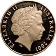 Australia One Dollar Army Anniversary 2001 KM# 530a ELIZABETH II AUSTRALIA 2001 IRB coin obverse
