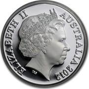 Australia One Dollar Australian Decimal Currency 2012 KM# 1732a ELIZABETH II AUSTRALIA 2012 IRB coin obverse