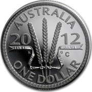 Australia One Dollar Australian Decimal Currency 2012 KM# 1732a AUSTRALIA 2012 K G ONE DOLLAR coin reverse