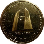 Australia One Dollar Australia's Vietnam Forces 2003 KM# 803 FOR SERVICE-AUSTRALIA'S VIETNAM FORCES 1962 - 1973 ONE DOLLAR coin reverse
