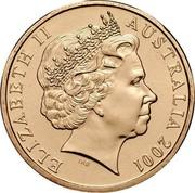 Australia One Dollar Centenary of Federation 2001 B IRB joined KM# 534.1 ELIZABETH II AUSTRALIA 2001 IRB coin obverse