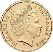 Australia One Dollar Centenary of Rugby League 2008 KM# 1052 ELIZABETH II AUSTRALIA 2008 IRB coin obverse